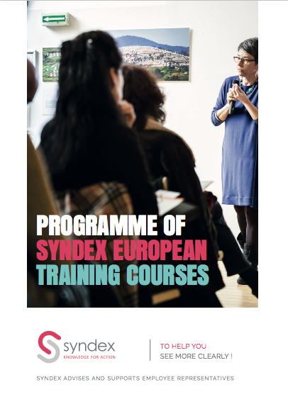 Programme of Syndex european training courses