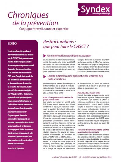 """Notre série """"Les chroniques de la prévention CHSCT """""""