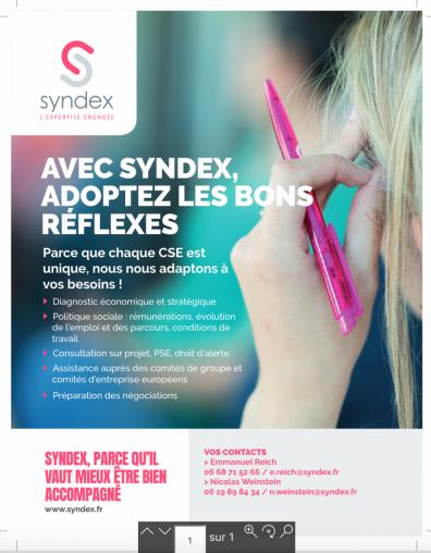 Analyse Syndex impact crise sanitaire