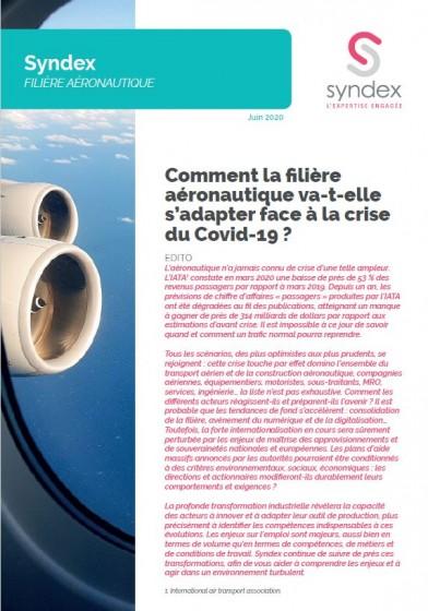 Comment la filière aéronautique va-t-elle s'adapter face à la crise du Covid-19 ? juin 2020