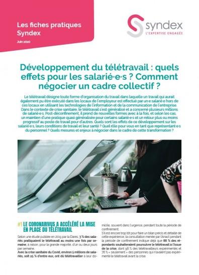 Crise Covid-19 : Développement du télétravail : quels effets pour les salarié·e·s ? Comment négocier un cadre collectif ?